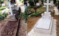 A műkő síremlékek karbantartása